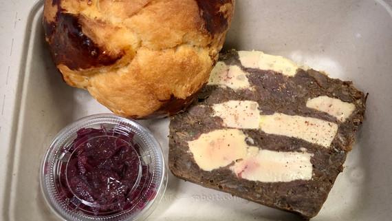 Terrine marbrée de joue de bpeuf et foie gras de canard à emporter