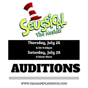 Seussical auditions at Palisade Playhouse