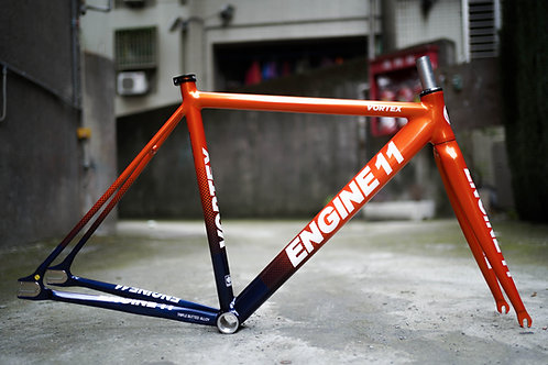 2021 Engine11 Vortex Frameset - Orange Navy
