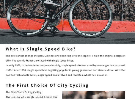 What is Fixed Gear Bike? Let us tell you.