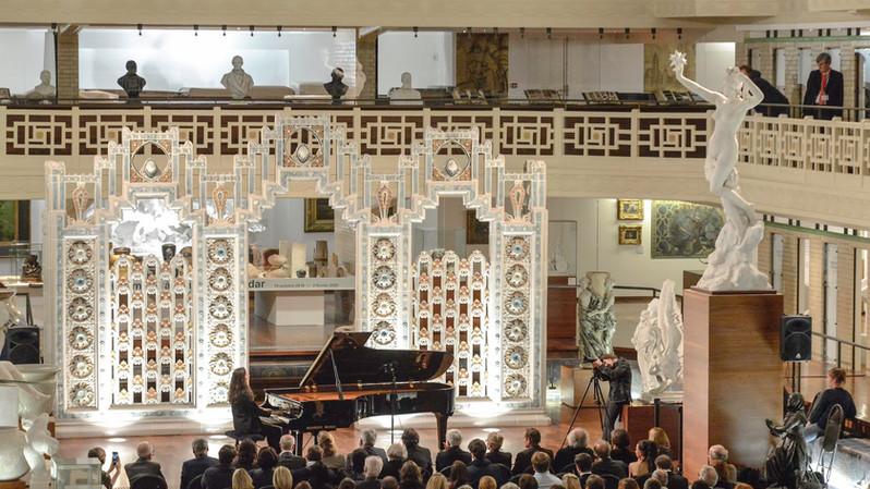 Irma Gigani (Géorgie) en récital, lors de la soirée de gala, dans le magnifique écrin du musée de La Piscine de Roubaix