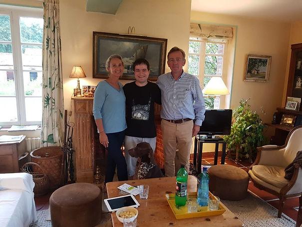 Constance Delannoy famille d'accueil lors de l'édition 2018