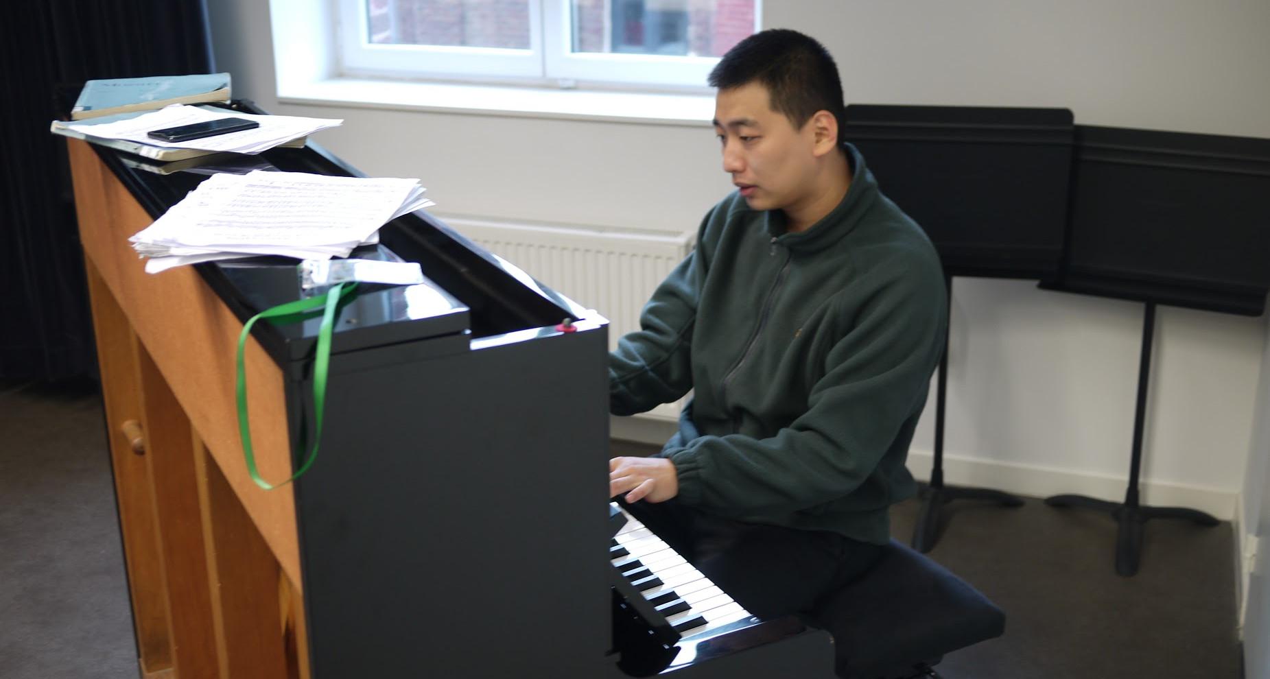 Han Huang (Chine) Salles de répétition mises à la disposition des candidats au Conservatoire de Roubaix