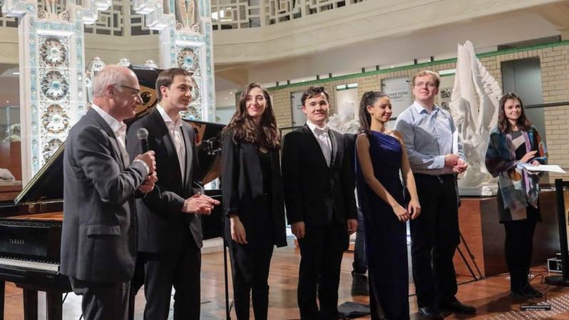 Patrick Bougamont, Président des Etoiles du piano, Dmitrii Kalshnikov, Irma Gigani, Tagir Kamaltdinov, Nour Ayadi, Vasilii Zobolotni, Nadezda Pisareva