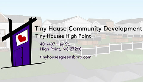Artist Rendering of Tiny Houses High Point Completed Project
