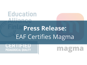 Education Alliance Finland Certifies Magma Math with Supported Learning Engagement