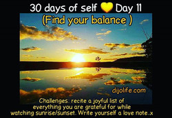Dijo 30 days of self 💛. Day 11 - Find your balance. _Thankyou to _dijo_unfiltered_For the pic..