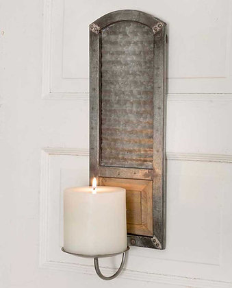 Metal Washboard Sconce