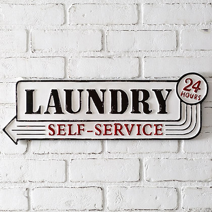 """""""Laundry"""" Metal Sign"""