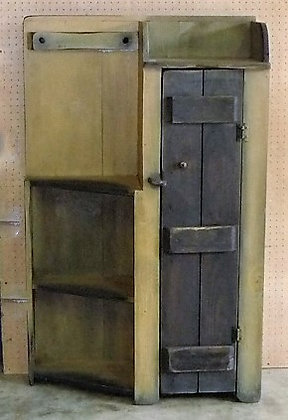 1 Door Side with Angled Shelves