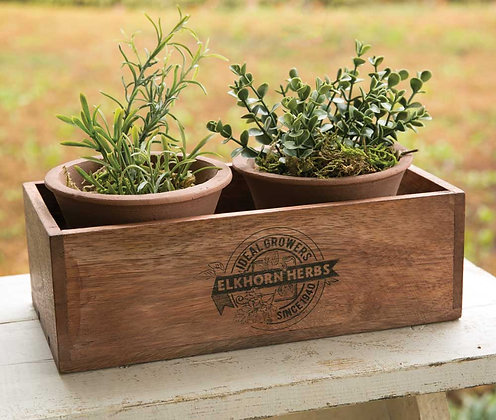 Herbs Planter with Two Pots