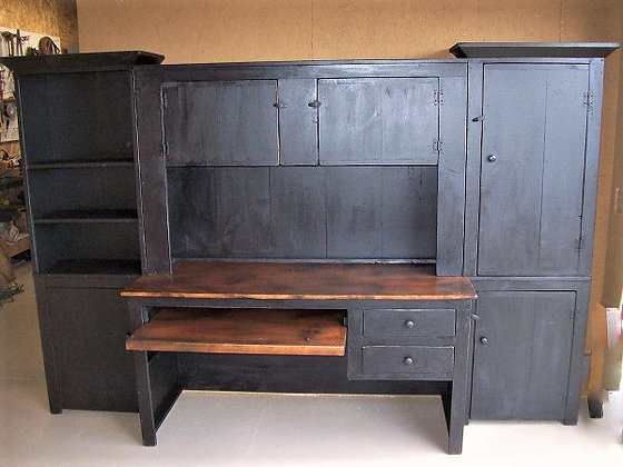 3pc Desk Wall Unit