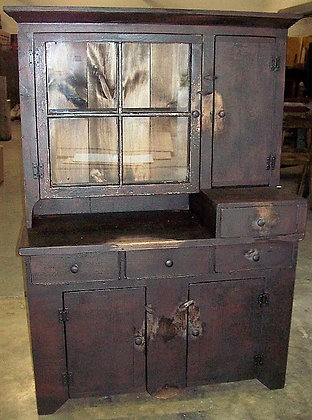 Stepback Cabinet with Glass Door