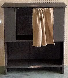 Cabinet with Curtain
