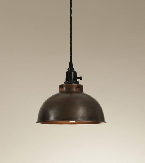 dome pendant lamp aged copper farmhouse style decor united