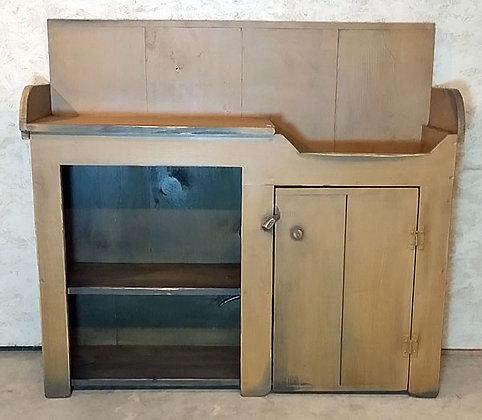 1 Door with Open Shelves Dry Sink - ws