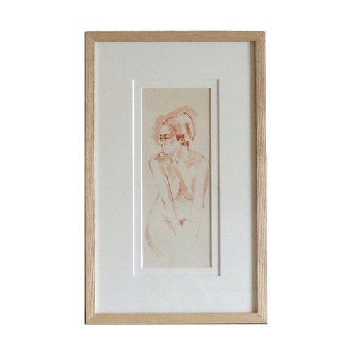 Watercolour Nude Girl