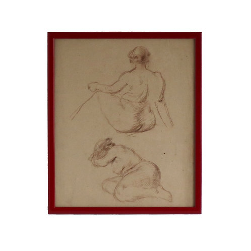 Pencil Sketch Naked Lady
