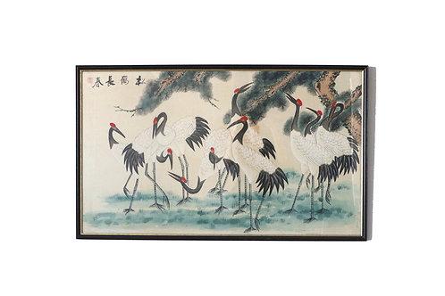 Chinoiserie Cranes