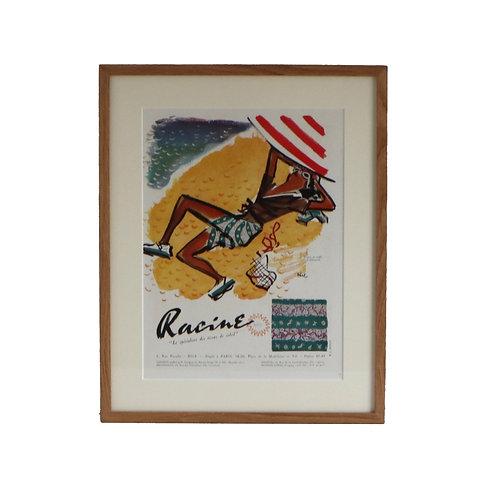 Original French Advert for Racine