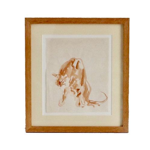 Bull Watercolour by Rosanne Palmer