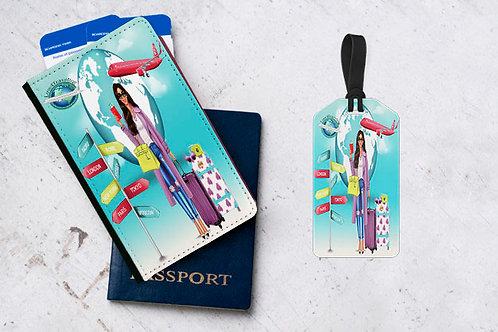 Personalized Passport and Luggage Tag Sets