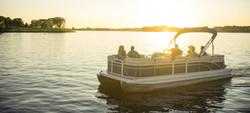 sunset pontoon