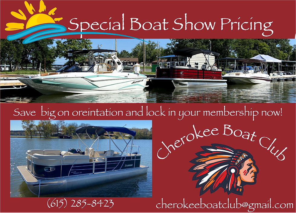 February Cherokee Boat Club Boat Show