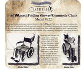 Wheelchair publicity flyer