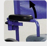 Swing-away armrests
