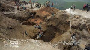 Une mine de Coltan dans la province du Nord-Kivu en République Démocratique du Congo. Le coltan est un minerai contenant du tantale.