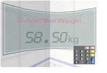 Participant's real weight vs subjective weight