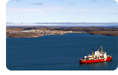 Assisted by the Canadian Coast Guard Ship Amundsen