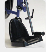Contoured and adjustable footrest