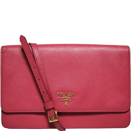 Prada Wallet on Chain Pink