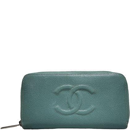 Chanel Portemonnaie Hellblau