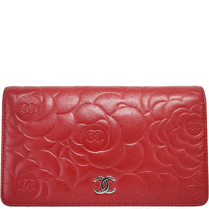Chanel Camelia Portemonnaie rot