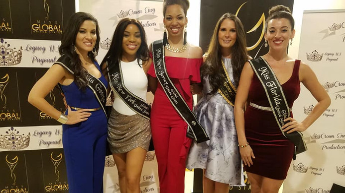Our Amazing Queen Dani Masterson with the Miss Global United States Queens