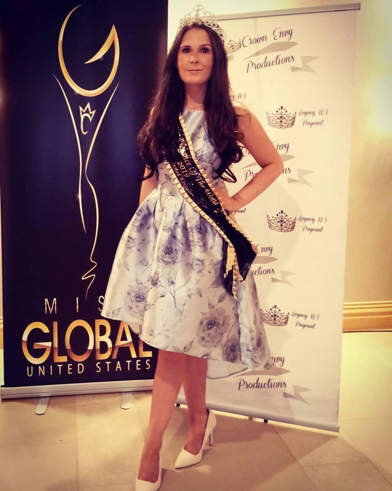 Our amazing beautiful Queen Dani Masterson representing in Miss Global United States 2019
