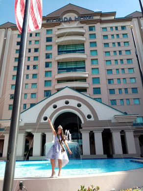 Our Amazing Queen Dani Masterson outside the stunning venue The Florida Hotel & Conference Centre @Miss Global United States Grand Finals