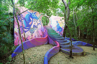 Art installation on hotel grounds