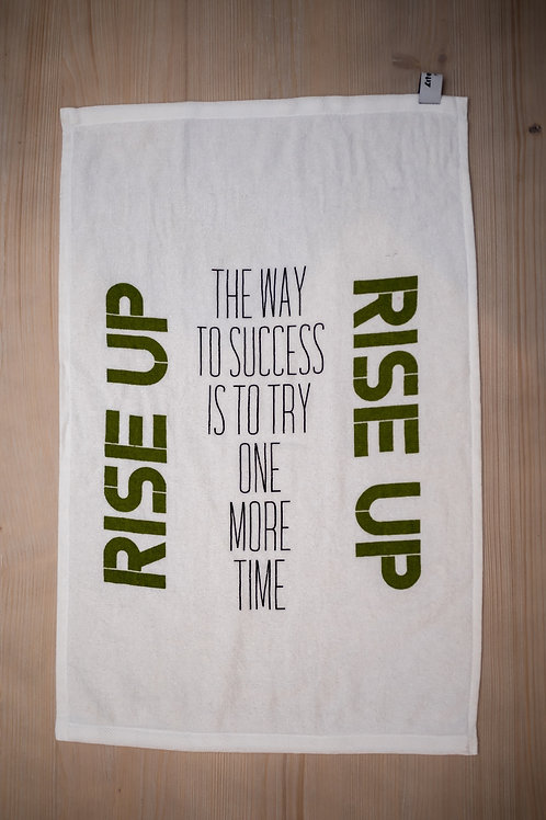 RISE UP - Fitness Motivation Towel