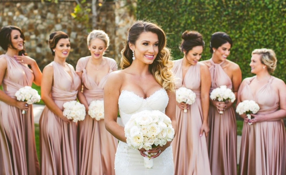 chic-white-wedding-metallic-bridesmaid-d