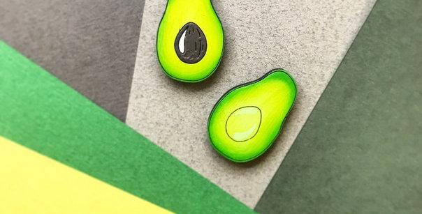 Набор значков Авокадо