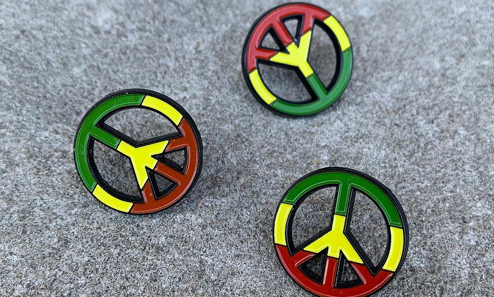 Rasta Peace Pin