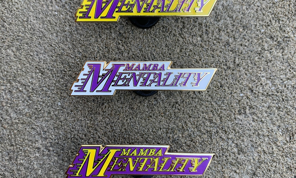 Mamba Mentality Pin