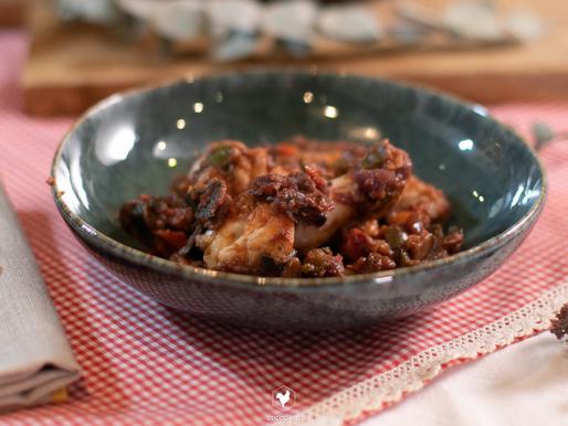 Aletes de pollastre ecològic Cococ amb samfaina