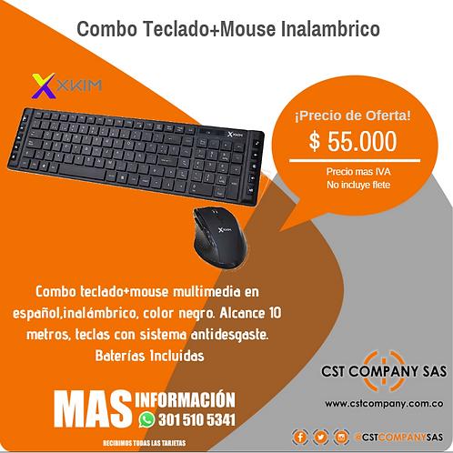 Combo Teclado+Mouse Inalambrico XKIM