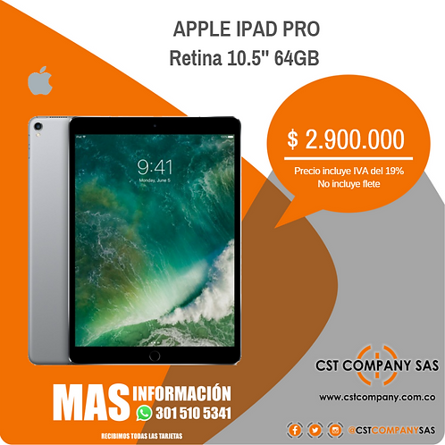 Apple iPad Pro Retina 10.5'' 64GB