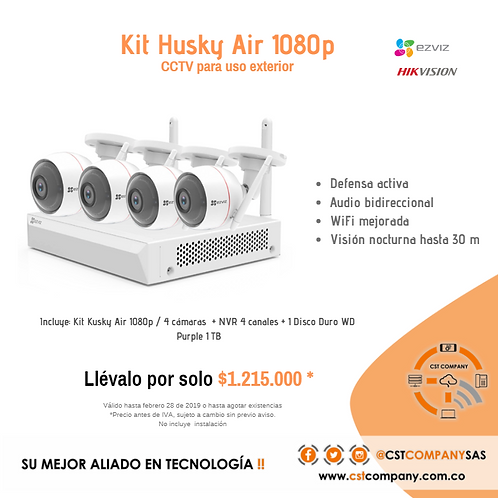 Kit CCTV Husky Air 1080p